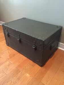 Antique Army Trunk - Industrial Military grade - Coffee Table