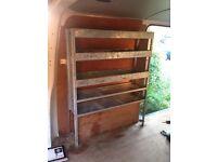 Van storage shelfs