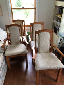 4 Straight back dining chairs - good condition