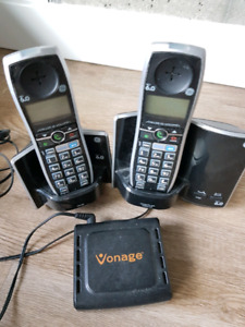 Cordless phone and Vonage adapter