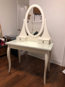 White dressing table with mirror- Vanity