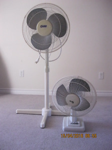 oscillating, multi speed, extendable height, works great, fans