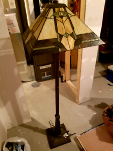 Marlow Floor Lamp with Stained Glass Shade