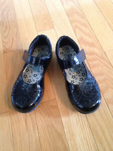 Girls Black Dress Shoes - size 12