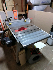 """10"""" Ridgid ts2412 belt driven table saw with upgrades"""