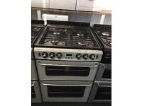 STOVES NEWHOLME 60CM ALL GAS COOKER IN SILIVER.