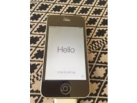 White iPhone 4S 16gb with black mirrored tempered glass protector