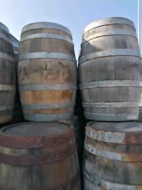 Refurbished oak whisky barrels