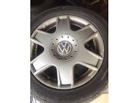 4 Original Volkswagen 16 inch alloy wheels