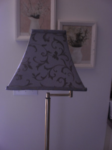 BRASS FLOOR LAMP WITH 3 WAY LIGHT SWITCH FOR SALE
