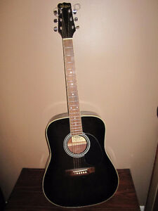 EL DEGAS ACOUSTIC GUITAR + SOFT CASE + EXTRAS