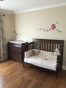 Crib/Day Bed/Dresser/Changing Table/Rocking Chair
