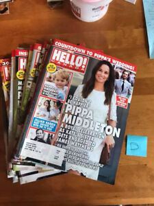 Hello Magazine Lot of 17 Issues Aug to Dec 2016 Royals Hillary C