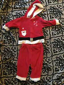 6-9 month Santa Outfit