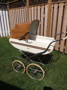 VINTAGE GENDRON BABY PRAM CARRIAGE, MINT CONDITION