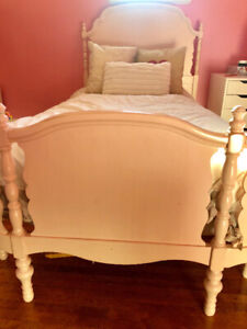 Pottery Barn bed -Solid wood , twin