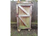 Old oak framed garden gate