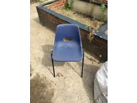 40 adult office plastic chairs