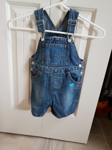 GREAT GIFT! NEW 24 m ($17 ORIGINAL VALUE) W TAGS DENIM OVERALLS
