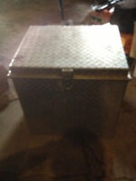 Drywallers checker plate tool box and tools