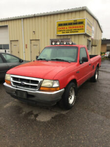 1999 Ford Ranger XL Pickup Truck - Broken Frame - Great Parts!