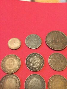Canada one cent penny large token coin lot