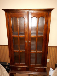 Wooden Glass Hutch