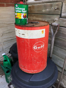 Vintage petroleum cans