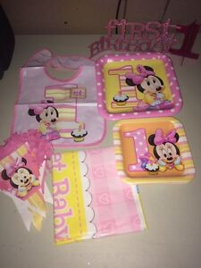 Minnie Mouse Baby's First Birthday Set
