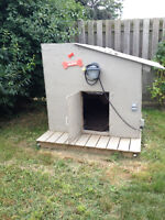 Custom builth doghouse with lights etc