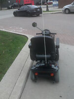 New invacare 4 wheel leo mobility scooter  1year  full warranty