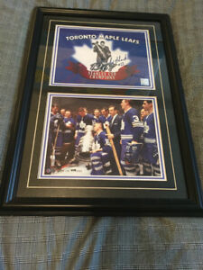 Toronto Maple Leafs Eddie Shack Signed Photo Framed
