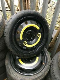 "Audi / seat/ vw / Skoda 16"" 18"" spare wheel space saver a3 golf touran"