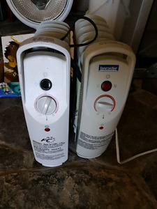 2 portable heaters