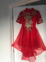 RED Traditional Chinese Bride Wedding Dress  (SizeM) *BRAND NEW*