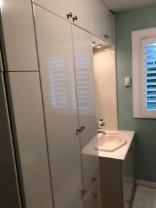 Bathroom Vanity, Sink, Faucet, Lighting and Storage Cabinet,