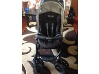 Graco double pushchair with rain cover £80
