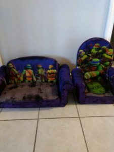 Toddler Ninga Turtles sofa and chair set