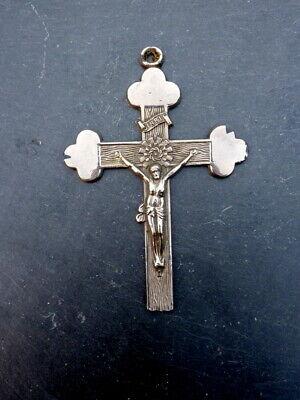 Beautiful Old Pilgrim cross Pendant Foreign Metal 10 cm Collector's Item