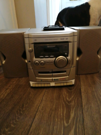 Sharp 3cd, 2 cassette players and radio