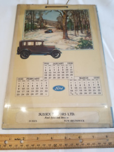 1930 Sussex Motors Calendar