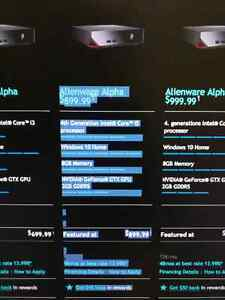 Alienware Alpha I5 8G Memory 128GB SSD with accessaries
