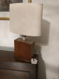 Handmade classic solid oak lamp