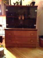 WOOD/ TEAK DISPLAY CABINET $160 negotiable