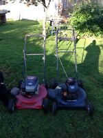 2 lawnmowers 50 buck a for one