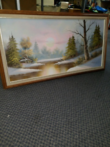 Beautiful Oil Painting signed Art