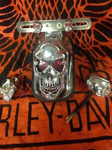Tombstone Skull Tail Lights with turning signals Windsor Region Ontario image 1