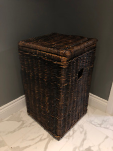 Dark Brown Wicker Laundry Hamper from La-Z-Boy - $60 OBO