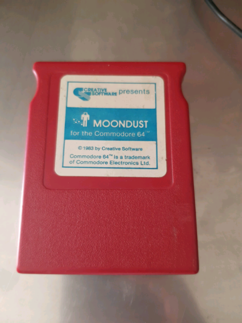 Moondust cart for commodore 64 game only race cart rare