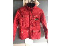 Barbour Girls 4 pocket belted quilted jacket